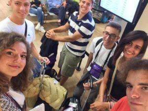 il viaggio studio negli stati Uniti, foto di gruppo